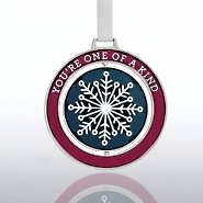 Spinner Ornament - Snowflake: You're One of a Kind