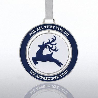 Spinner Ornament - Reindeer: We Appreciate You