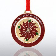 Spinner Ornament - Poinsettia