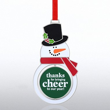 Shaped Spinner Ornament - Snowman: Cheer to Our Year