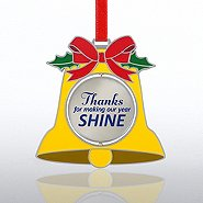 Shaped Spinner Ornament - Bell
