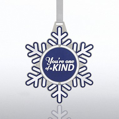 Shaped Spinner Ornament - Snowflake