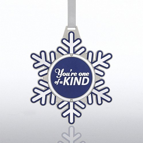 Snowflake Shaped Spinner Ornament