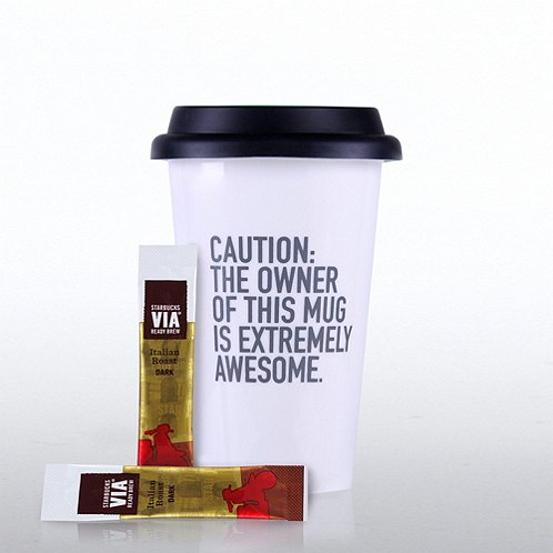Caution Exclamations Coffee Lovers Gift Set