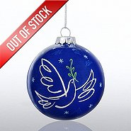 Hand-Painted Ornament Bulb - Peace Dove