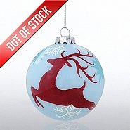 Hand-Painted Ornament Bulb - Reindeer