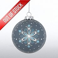 Hand-Painted Ornament Bulb - Snowflake