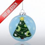 Hand-Painted Ornament Bulb - Tree