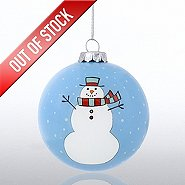 Hand-Painted Ornament Bulb - Snowman