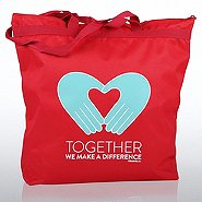 Zipper Tote Bag - TWMAD - Hand with Heart