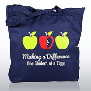 Zipper Tote Bag - MAD - Apples