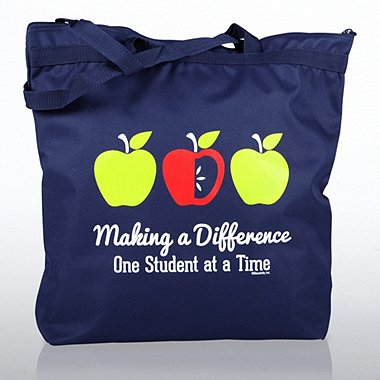 Zippered Tote Bag - Apples: Making a Difference