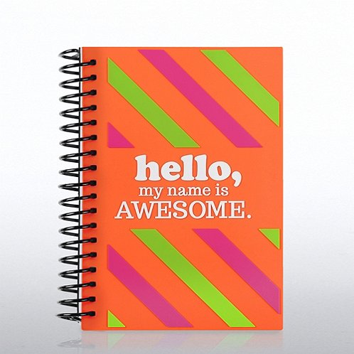 Hello...My Name is Awesome Soft Cover Journal