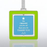 Spinner Ornament - Thanks Tree:  We Appreciate You