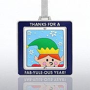 Spinner Ornament - Elf:  FAB-YULE-OUS YEAR