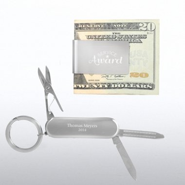 Money Clip & Pocket Knife Key Chain Gift Set