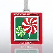 Spinner Ornament - Lollipop - Working with You is a Treat