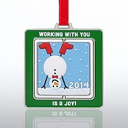 Spinner Ornament - Snowman: Working with You is a Joy