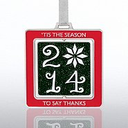 Spinner Ornament - 'Tis the Season 2014 Snowflake