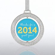 Spinner Ornament - Glitter Thanks 2014