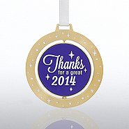 Spinner Ornament - Thanks for a Great 2014
