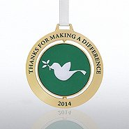 Spinner Ornament - Dove:  Making a Difference