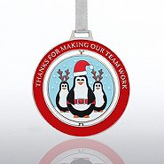 Spinner Ornament - Penguins: Thanks for Making Our Team Work