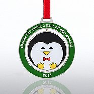 Spinner Ornament - Round Penguin:  Success 2014