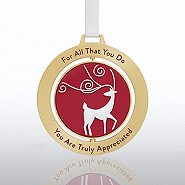 Spinner Ornament - Reindeer: Truly Appreciated