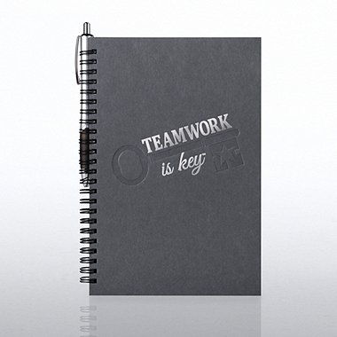 Foil-Stamped Journal & Pen Gift Set - Teamwork is key