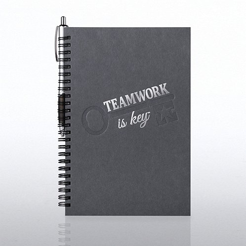 Teamwork is key Foil-Stamped Journal & Pen Gift Set
