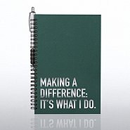 Foil-Stamped Journal & Pen Gift Set - Making a Difference