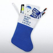 Holiday Stocking Gift Set - My Boss Thinks I'm a Big Deal