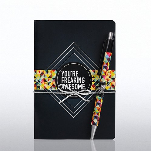 Perfect Bound Journal & Pen Gift Set: Freaking Awesome