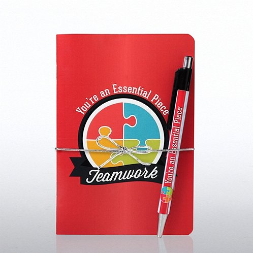 Teamwork: Essential Piece Value Journal & Pen Gift Set