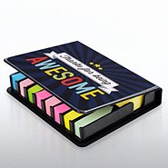 Flip Top Sticky Note Holder w/ Calendar - Thanks...Awesome