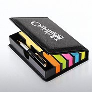 Flip Top Note Holder w/ Pen & Calendar - Teamwork is Key