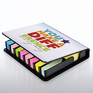 Flip Top Sticky Note Holder w/ Calendar - You Make a Diff.