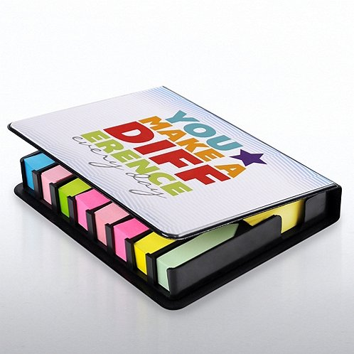 You Make a Diff. Flip Top Sticky Note Holder w/ Calendar