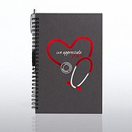 Foil-Stamped Journal & Pen Gift Set - Stethoscope