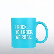 Neon Ceramic Mug - I Rock, You Rock, We Rock