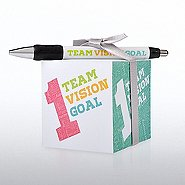 Note Cube & Pen Gift Set -  1 Team Vision Goal