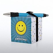 Note Cube & Pen Gift Set - Positively Awesome