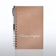 Foil-Stamped Journal & Pen Gift Set - Starfish