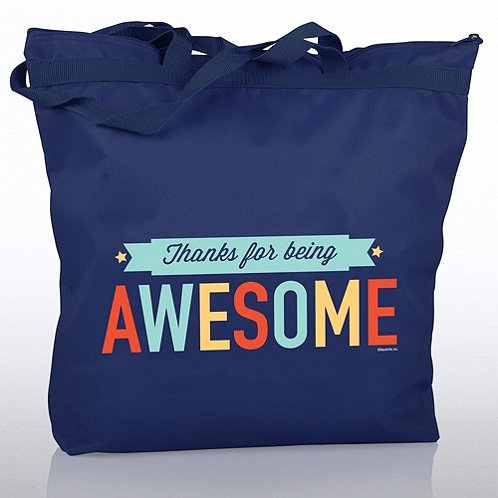 Thanks for Being Awesome Zippered Tote Bag