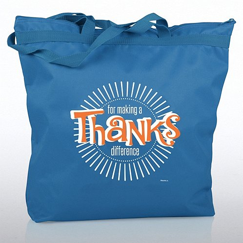 Thanks for Making a Difference Zippered Tote Bag