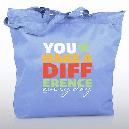 You Make a Difference Every Day Zippered Tote Bag