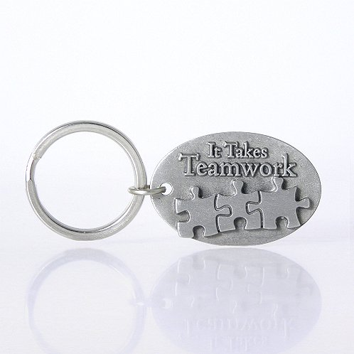 It Takes Teamwork Character Key Chain