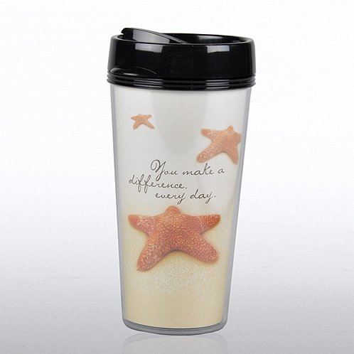 Starfish: Making a Difference Travel Mug