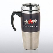 Stainless Steel Travel Mug - It Takes Teamwork